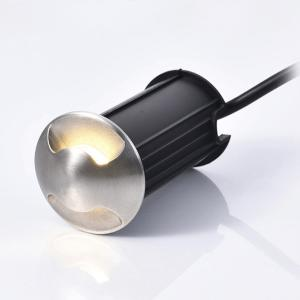 Round IP68 52mm 12V 24V 1W 3W Decorative Underground LED Light