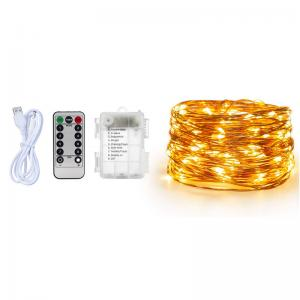 3AA Battery and USB Fairy Deck LED Copper Wire String Light