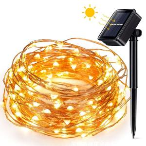 Solar Christmas Wedding Party Fairy Copper Wire LED String Light