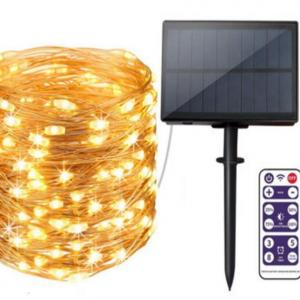 50m 164 Feet Solar Christmas Fairy Copper Wire LED String Light