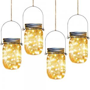 Solar Mason-Jar with Chrstimas Party Fairy LED String Light
